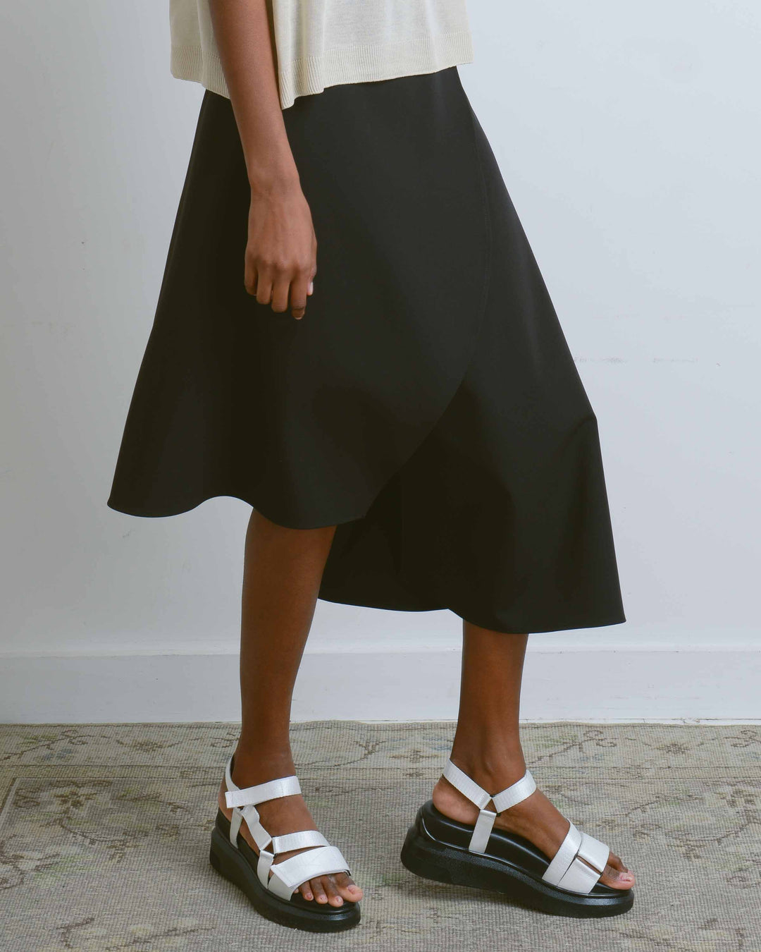 Black Asymmetric 2-Way Skirt