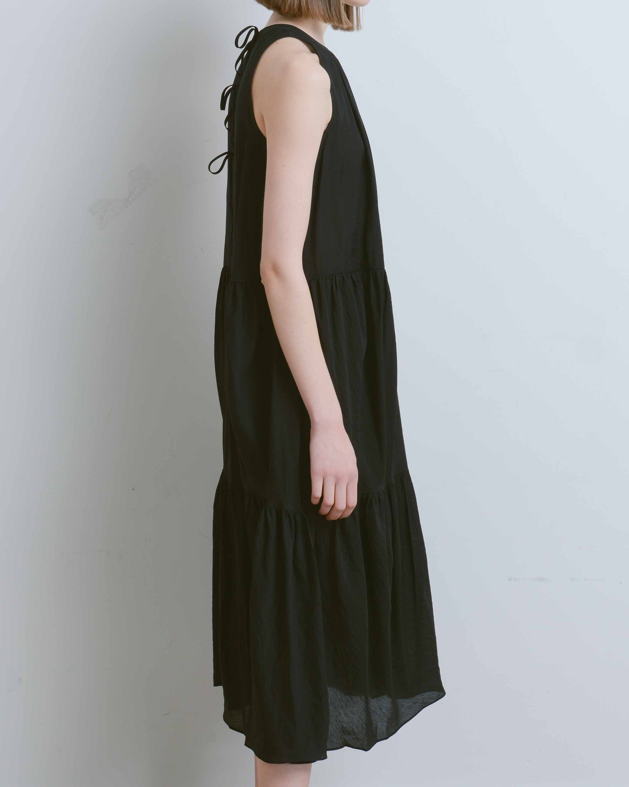 Black Hawaiiana Trapeze Dress
