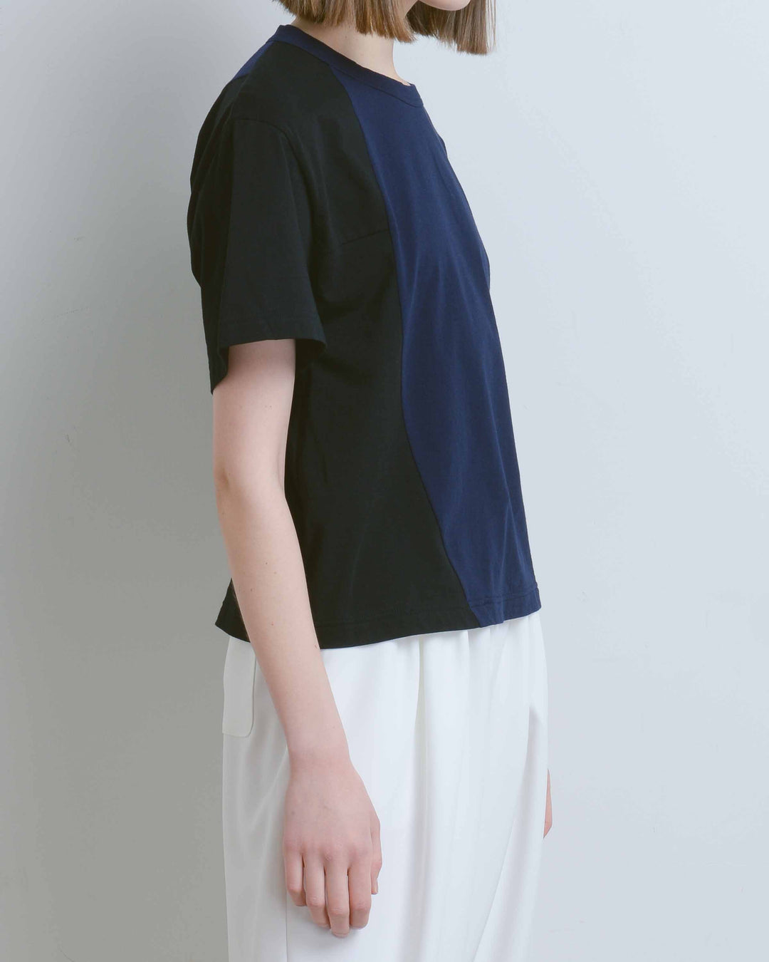 Navy & Black Lucian Two-Tone Tee