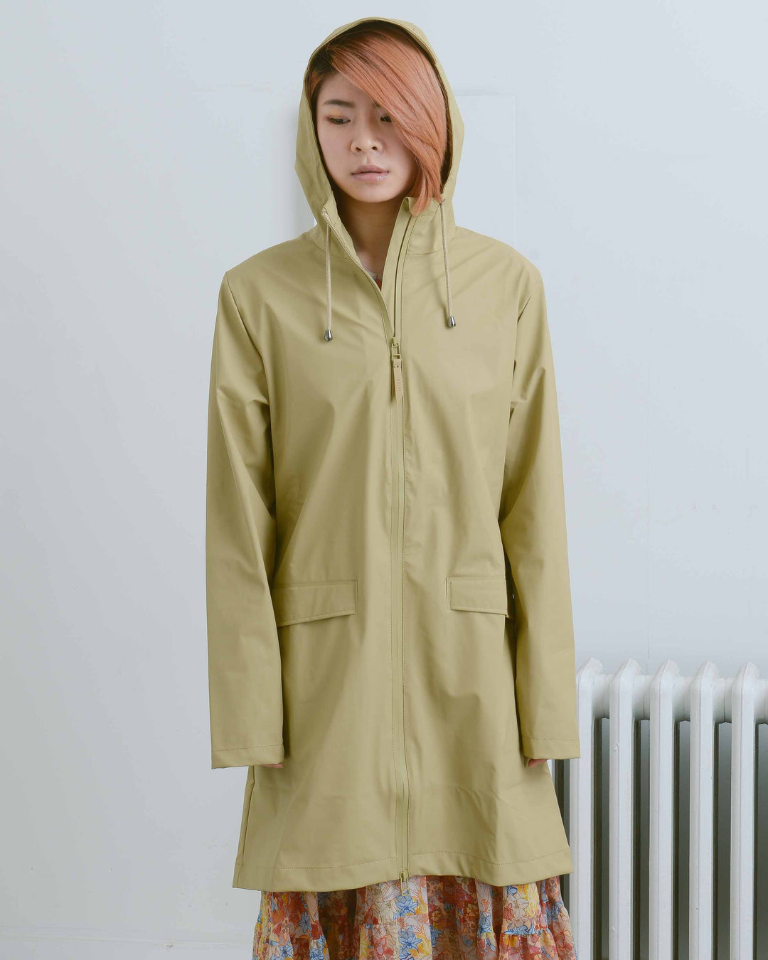 Brown Long Rain Jacket