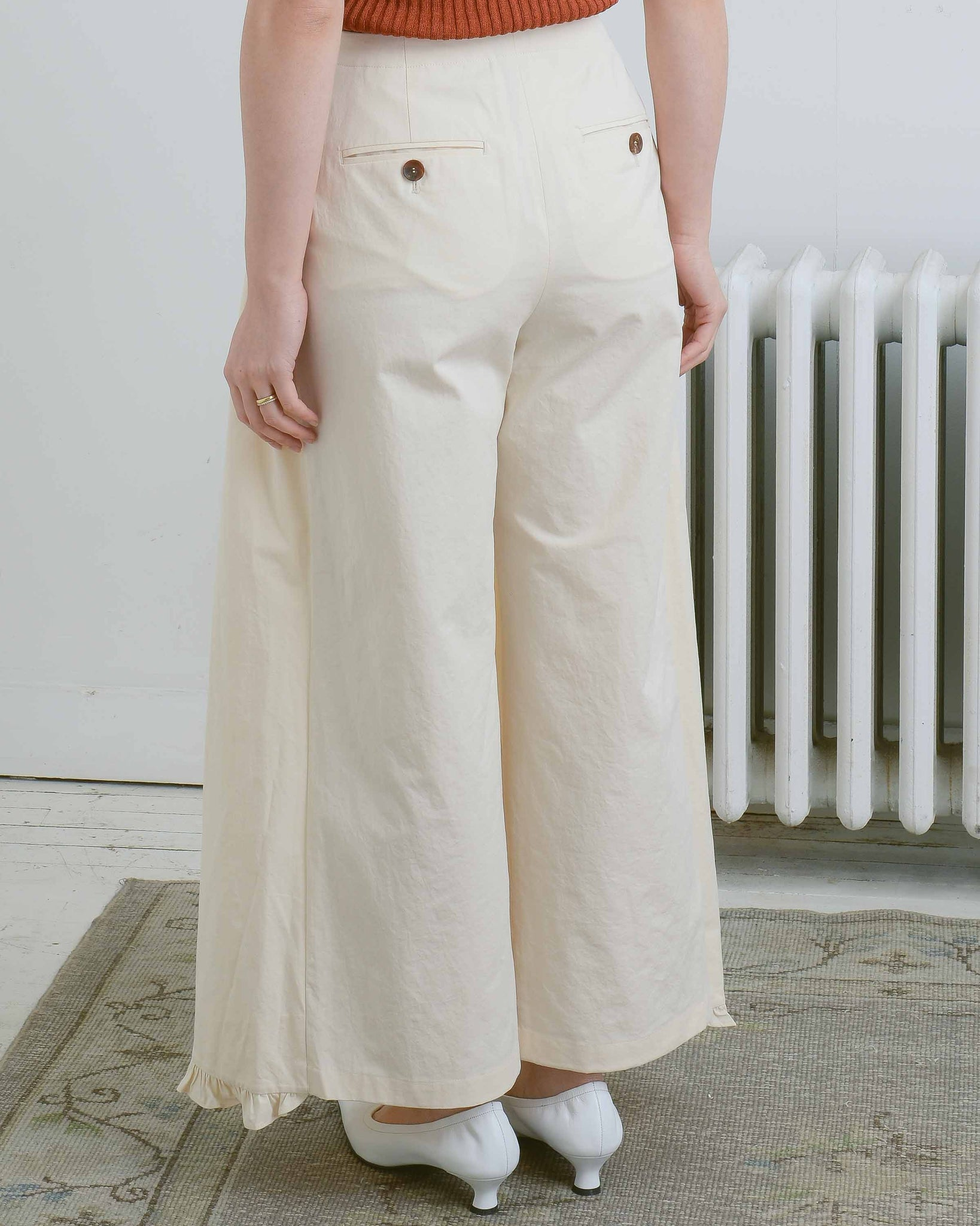 Ruched Apron Pants