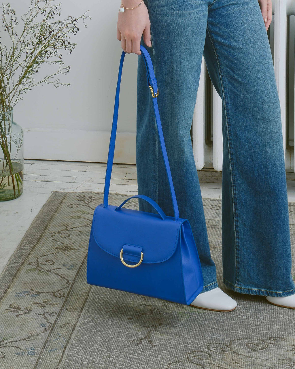 Blue Calf Lady D Purse