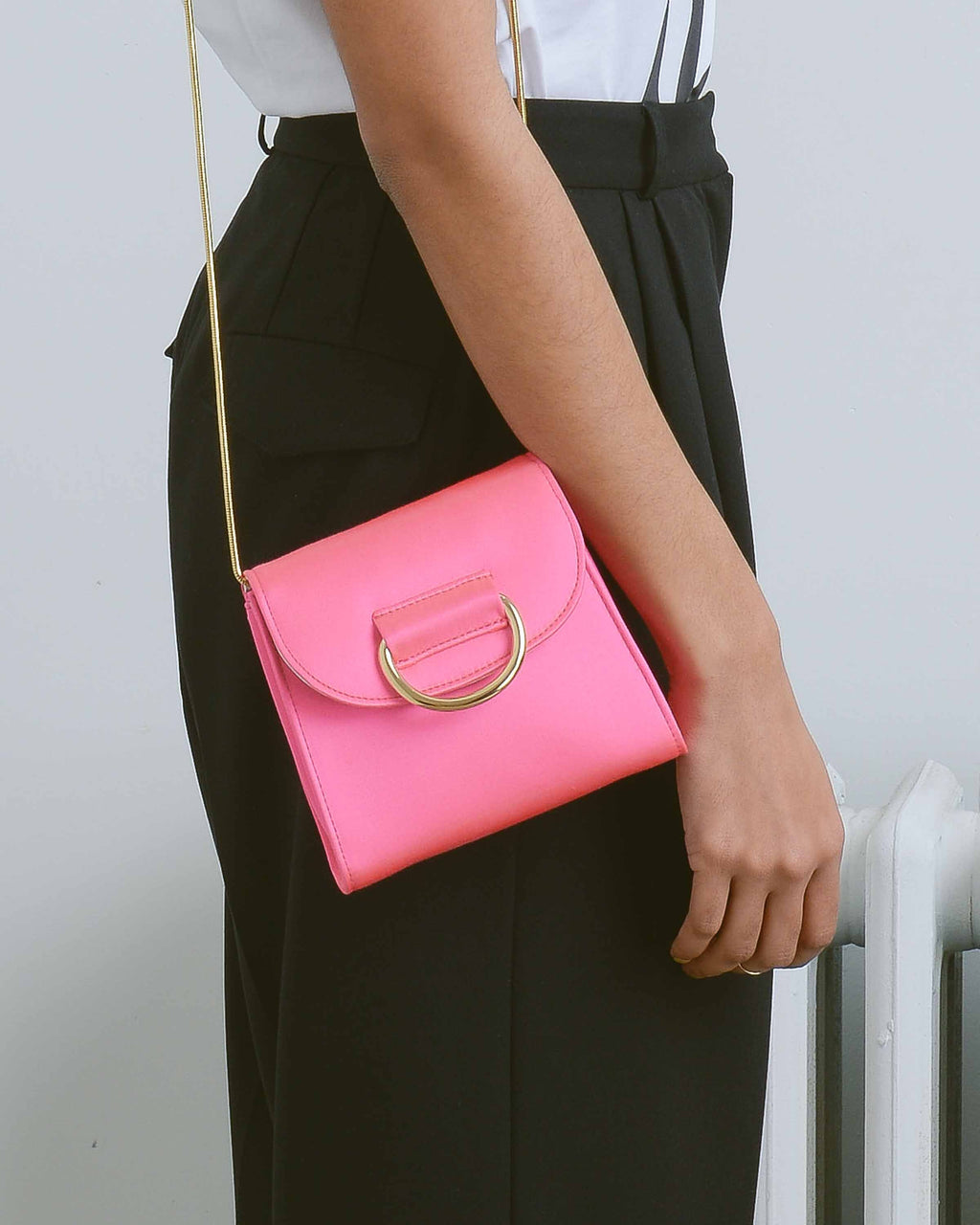 Pink Satin Tiny Box Bag