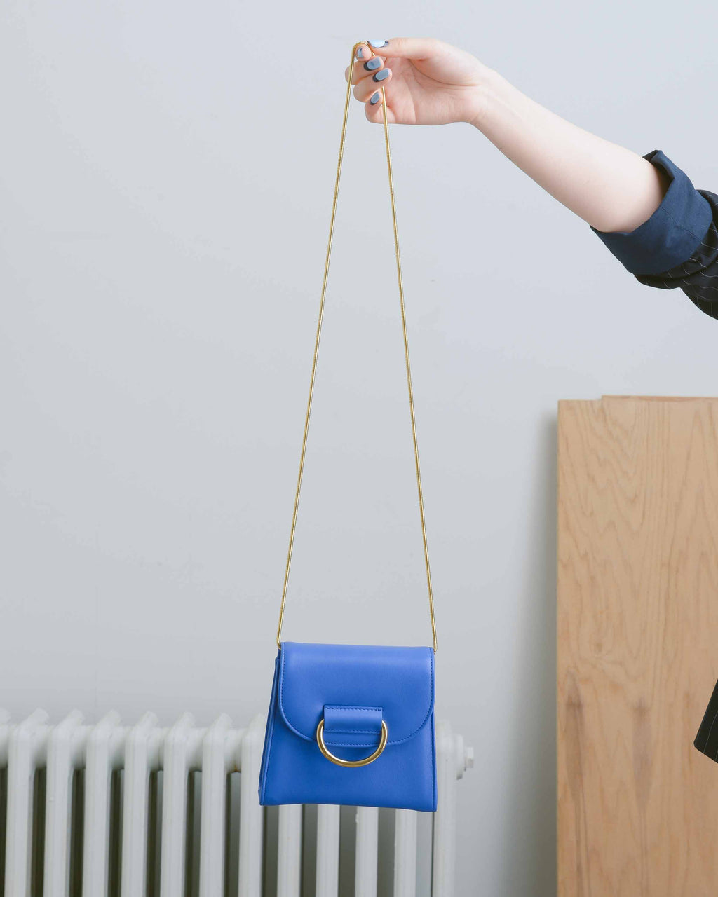 Blue Calf Tiny Box Bag