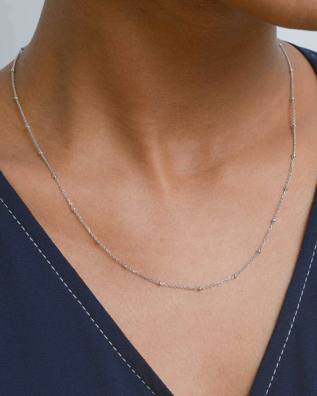 Silver Mini Dot Necklace