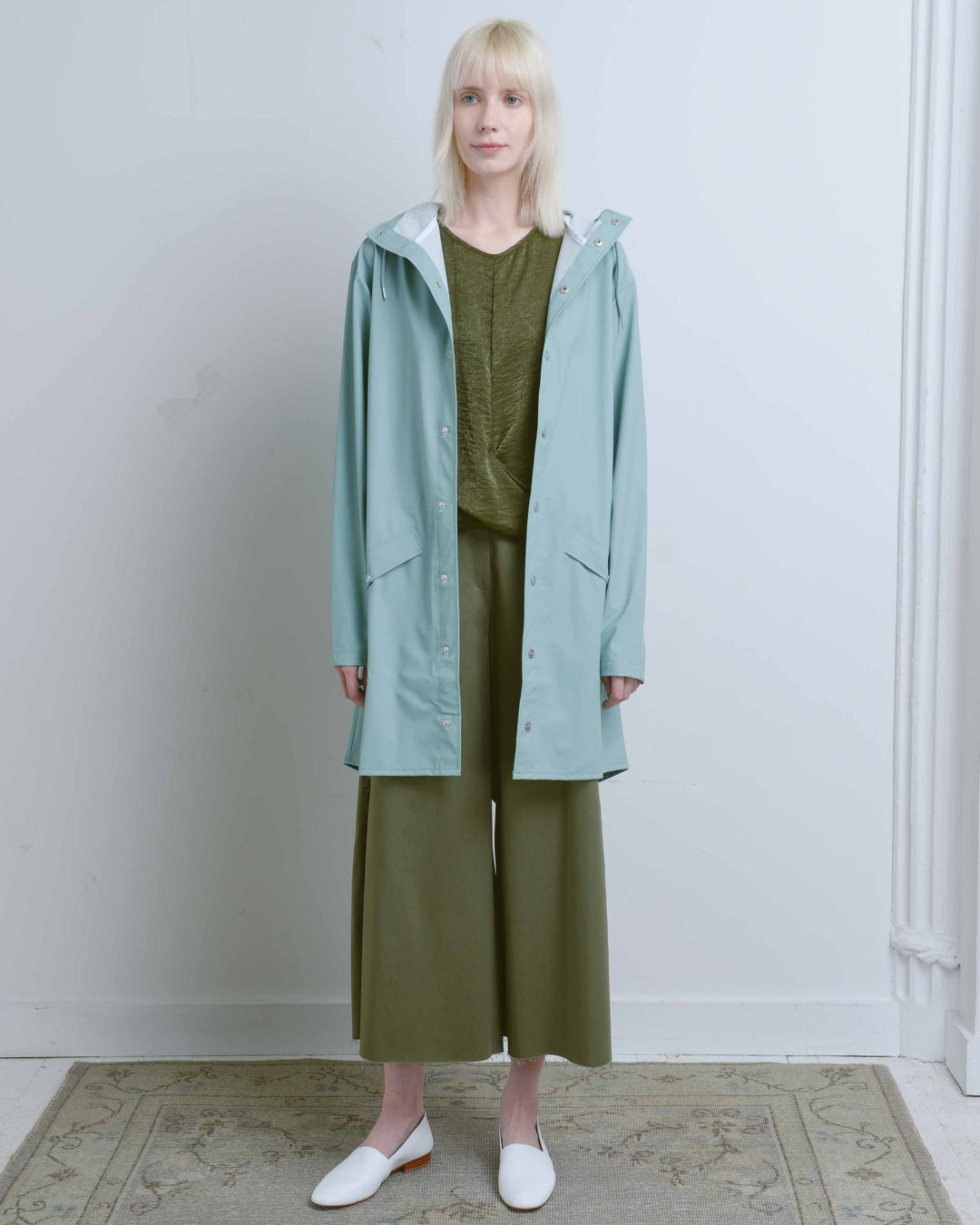 Dusty Mint Long Jacket