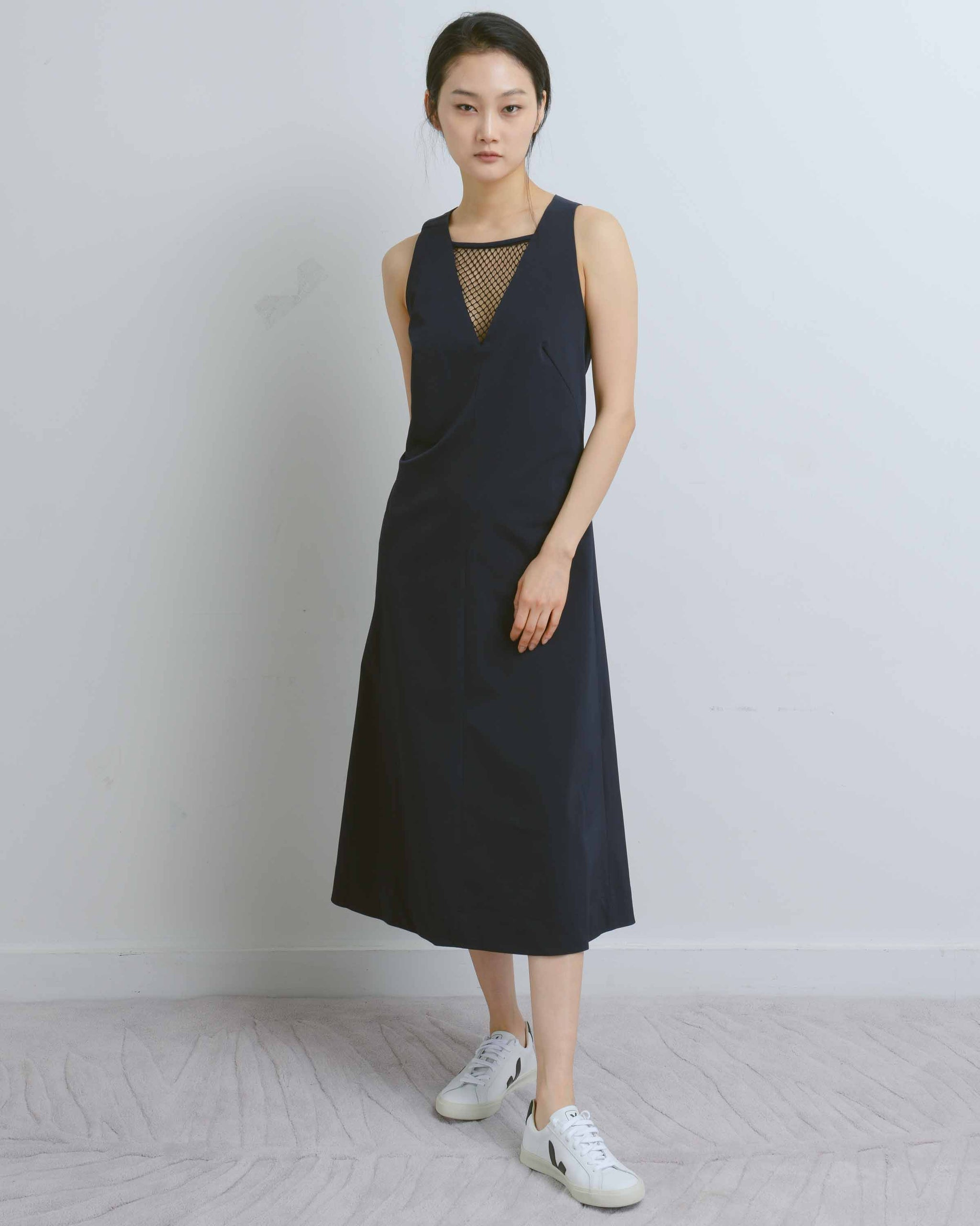 Midnight V-Neck Insert Dress
