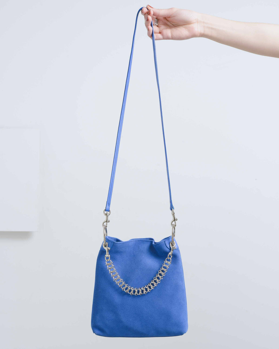 Cobalt Suede Candy Bag