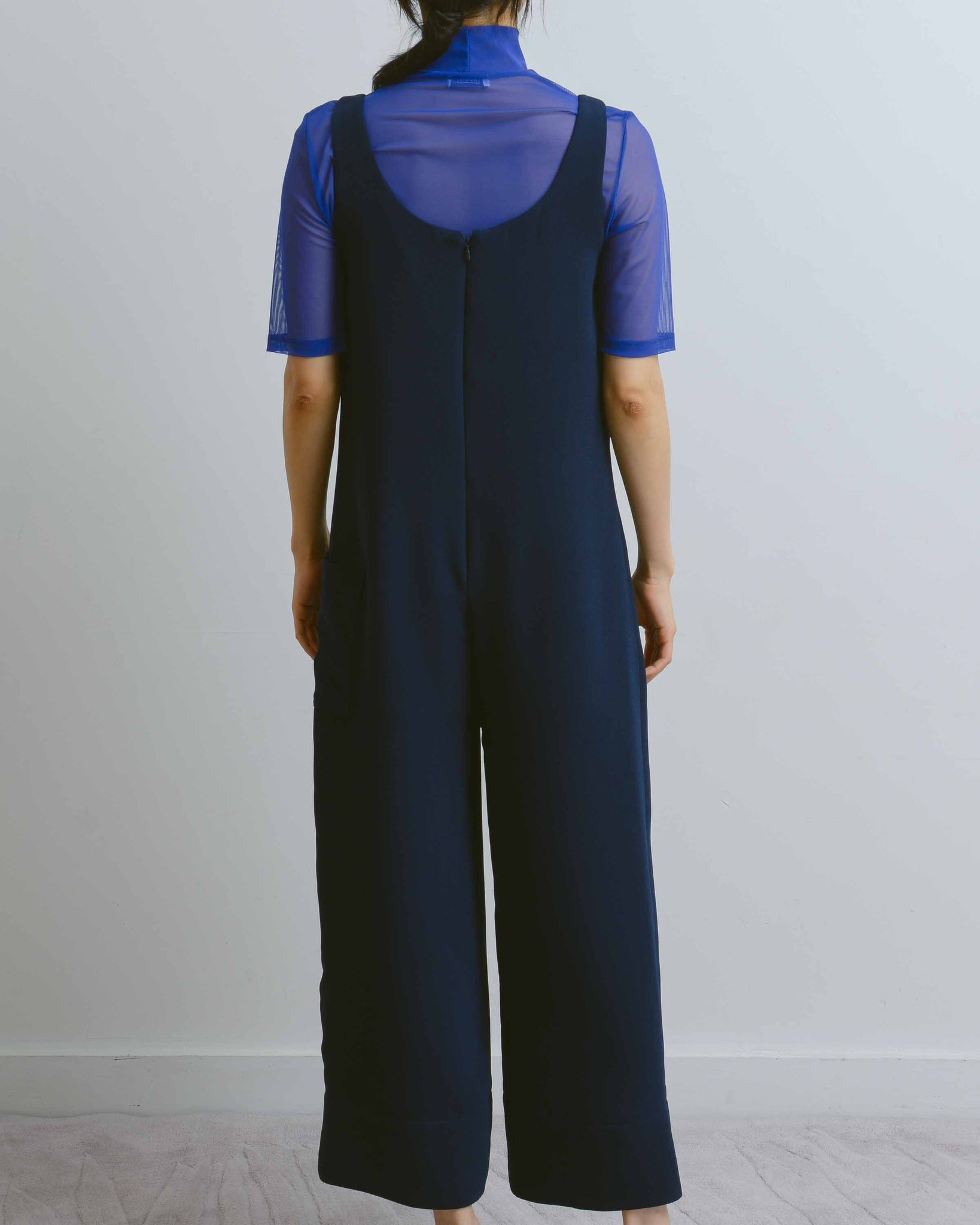 Navy Wide Leg Jumpsuit