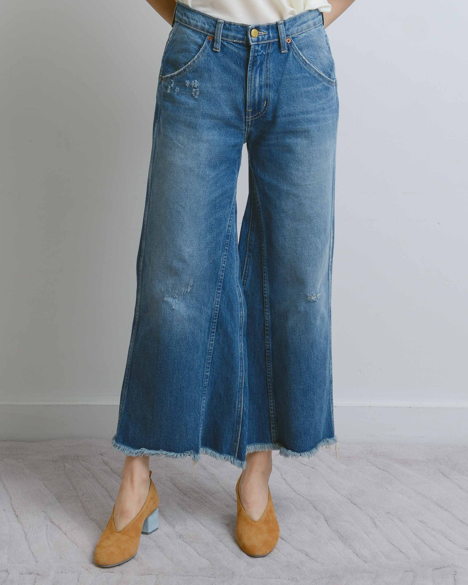 Georgia Mid-High Culotte Jeans