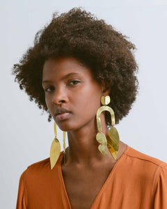 Polished Brass Balance Earrings