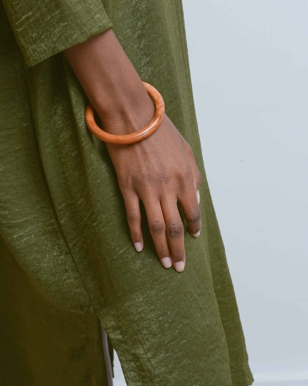 Orange Marble Rock Bangle