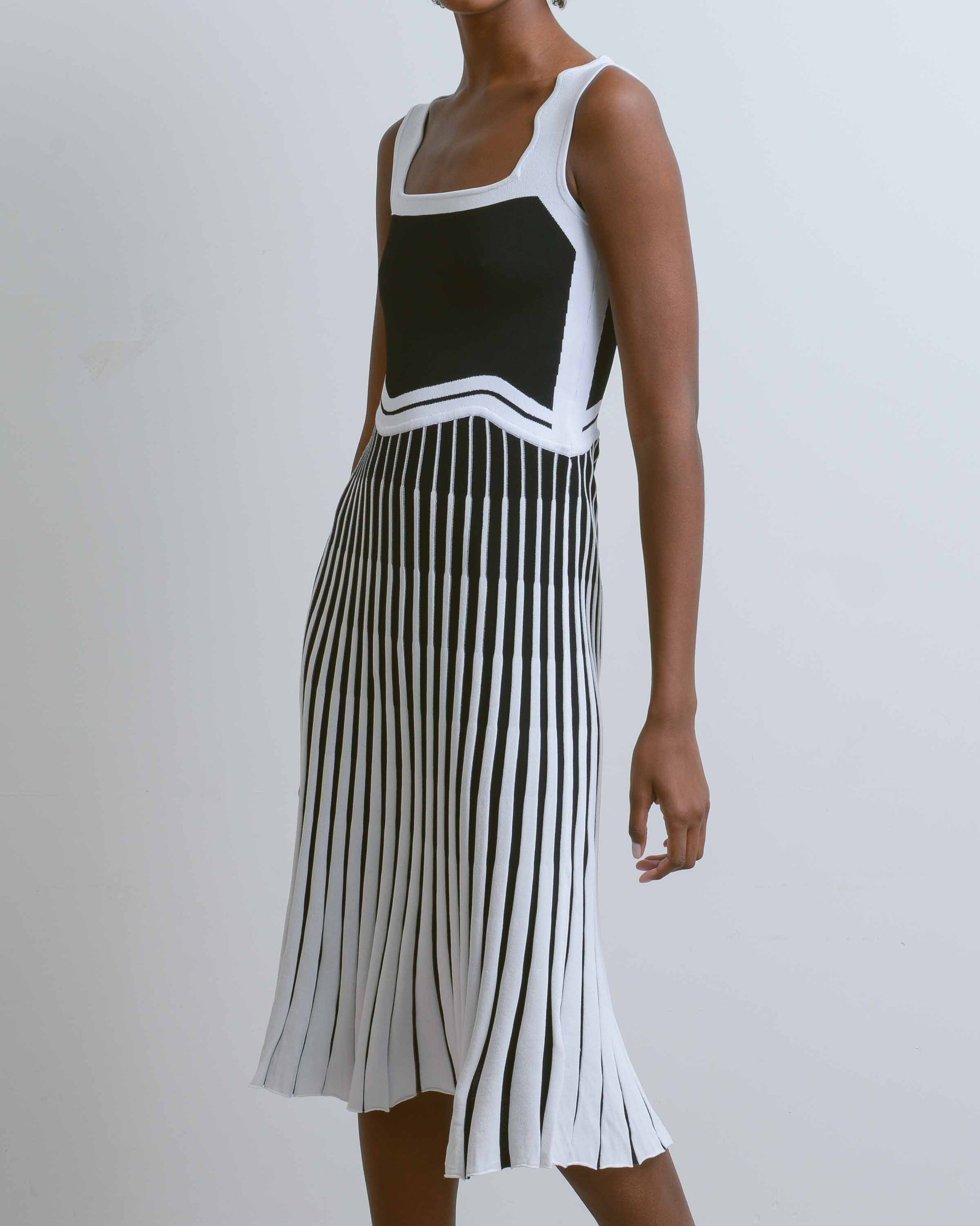 Black Parlor Wavy Tank Dress
