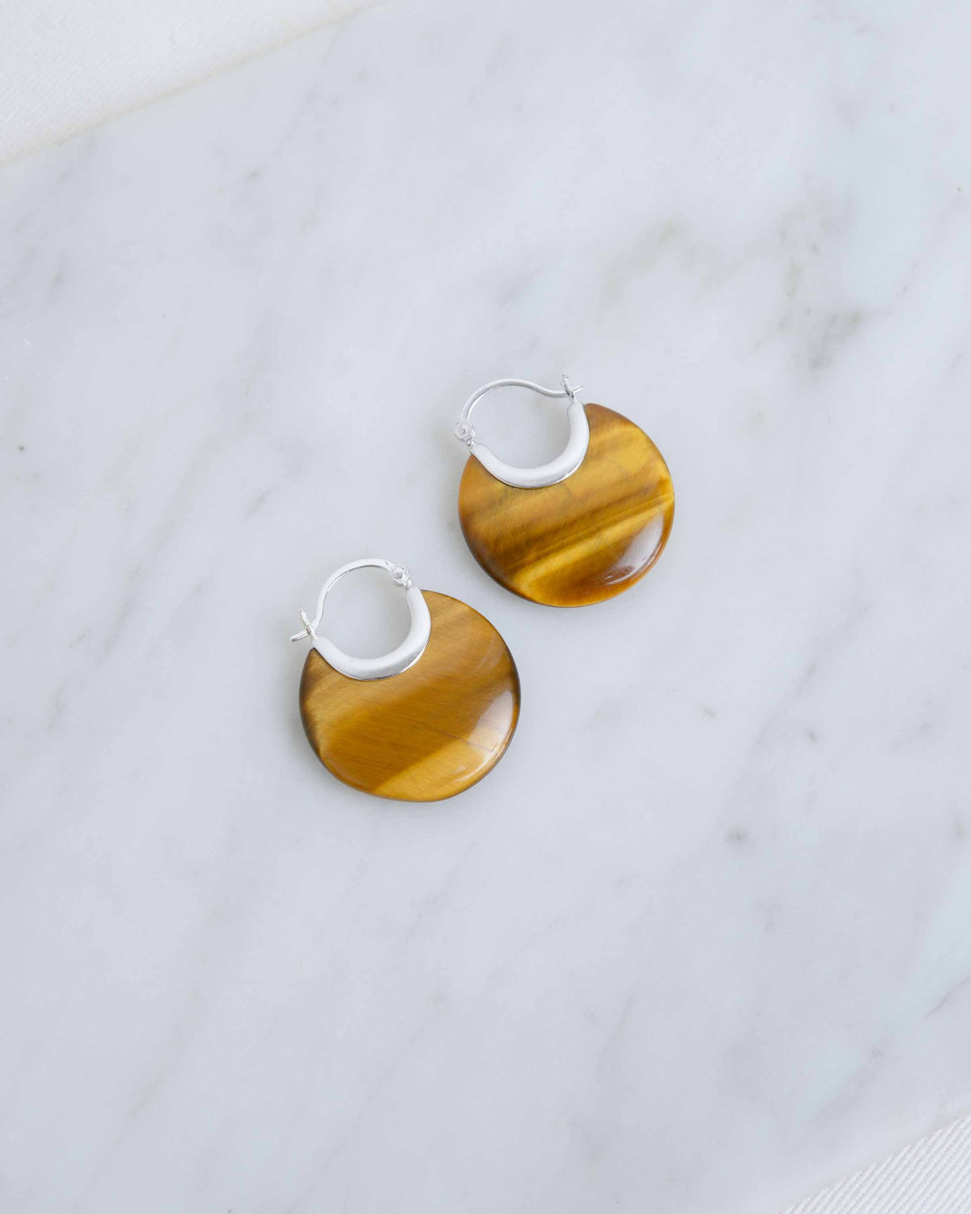Wood Grain Amber Earrings