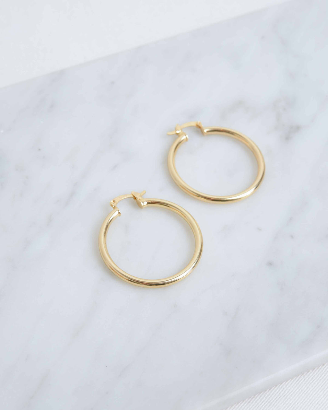 Gold Medium Hoops