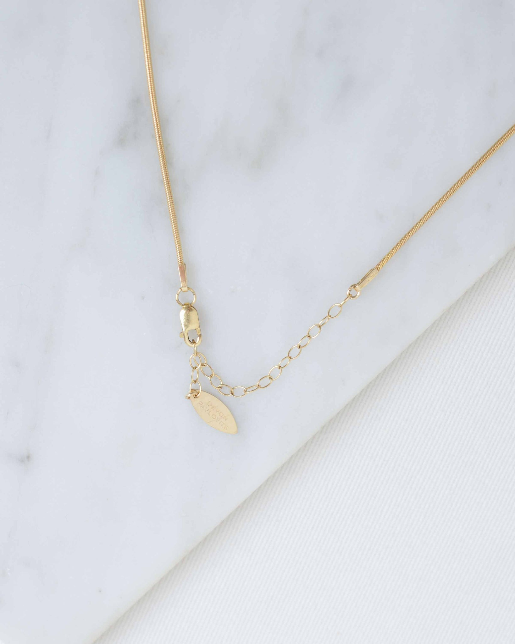 Clear Grey Crescent Necklace