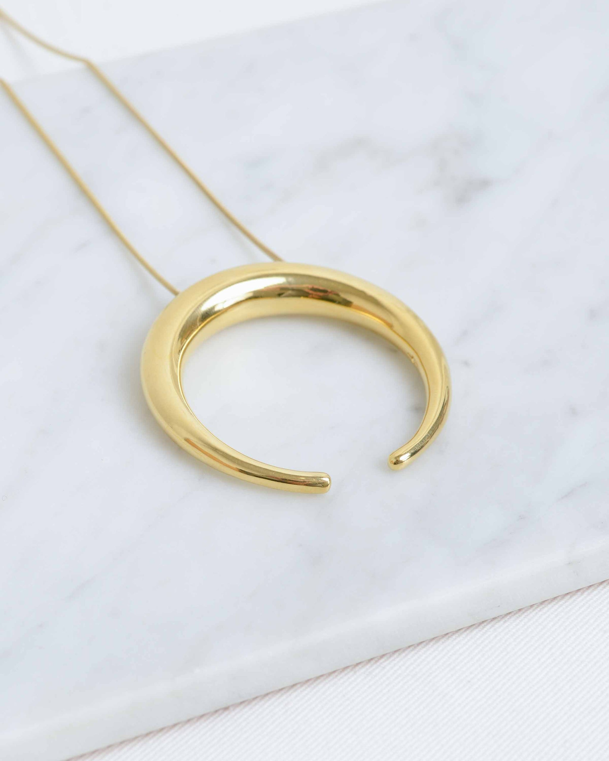 14k Crescent Necklace