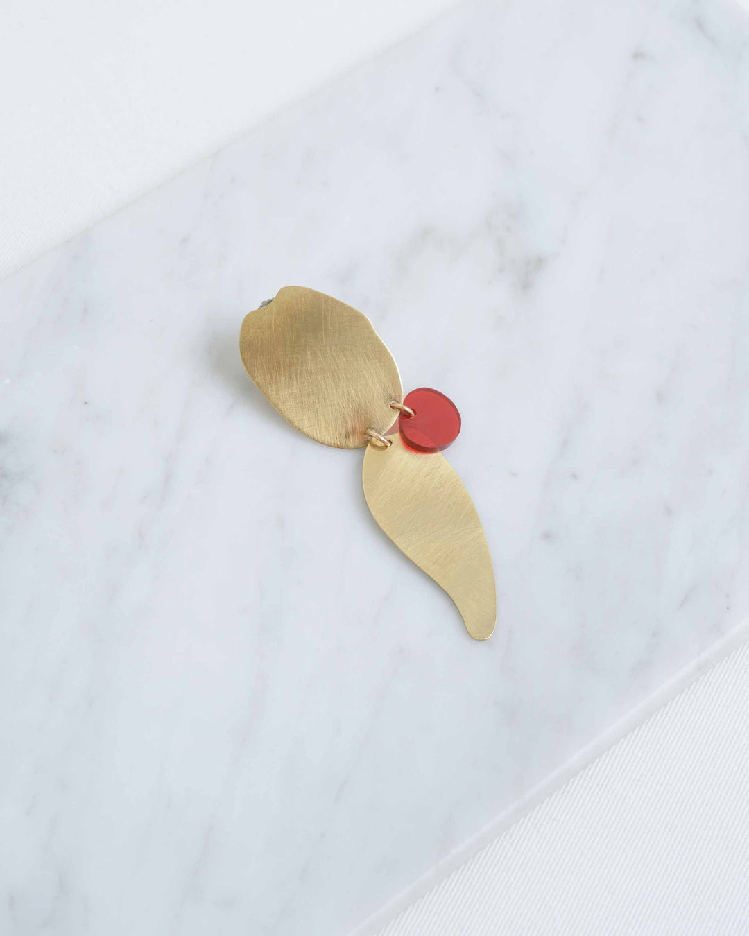 Red Dot Earring