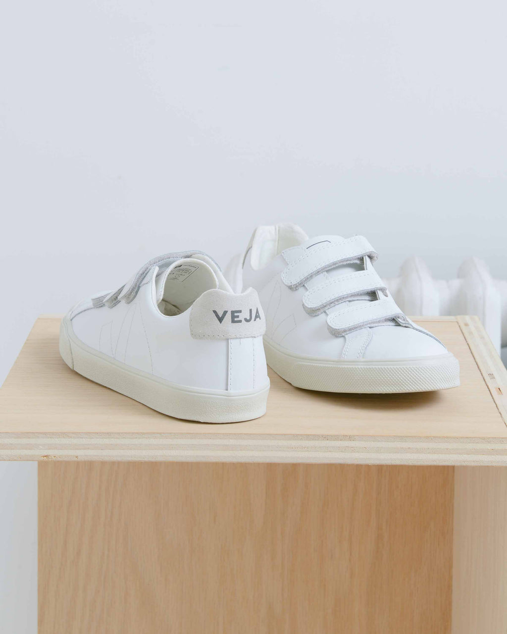 White 3-Lock Sneakers