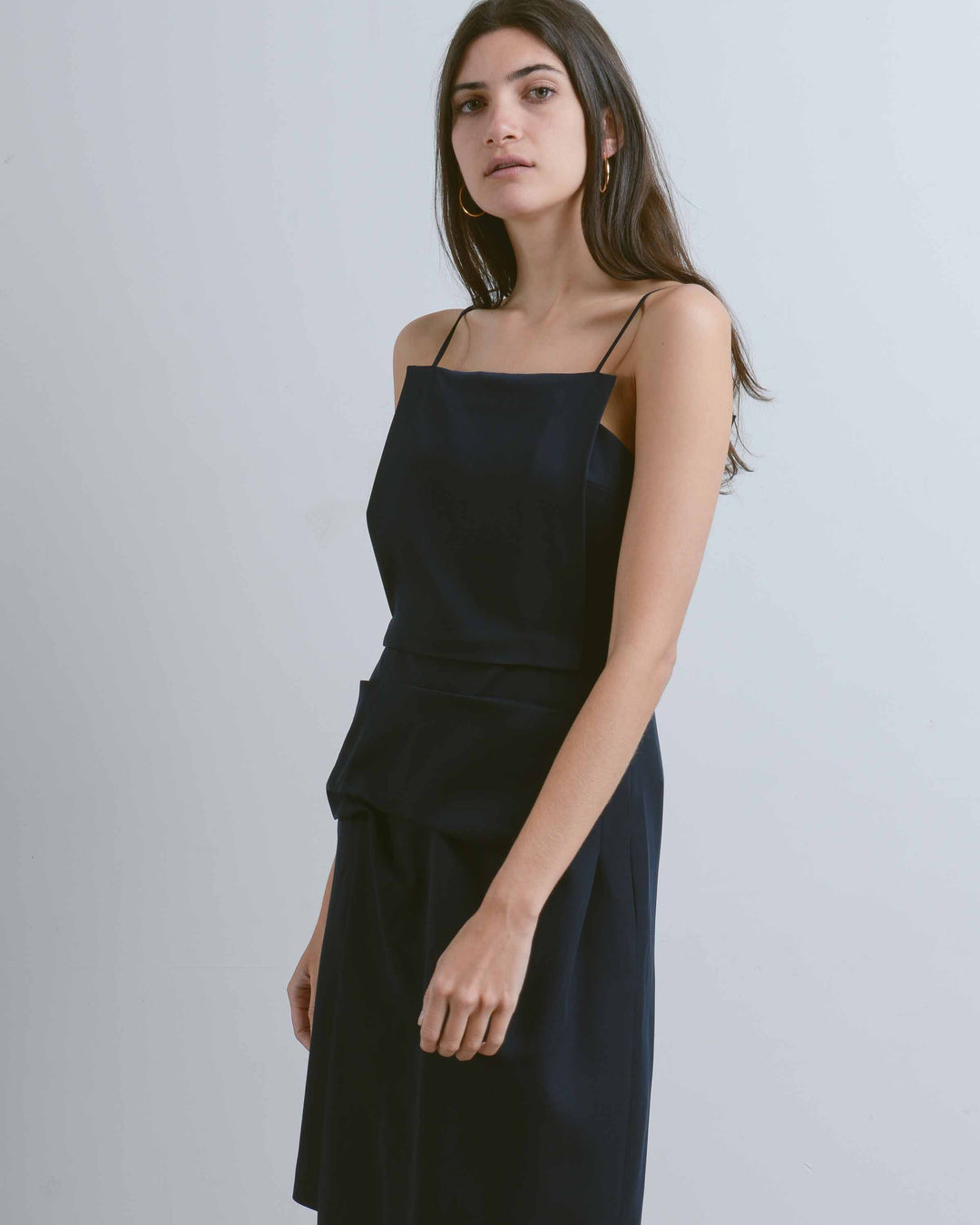 Dark Blue Apron Dress