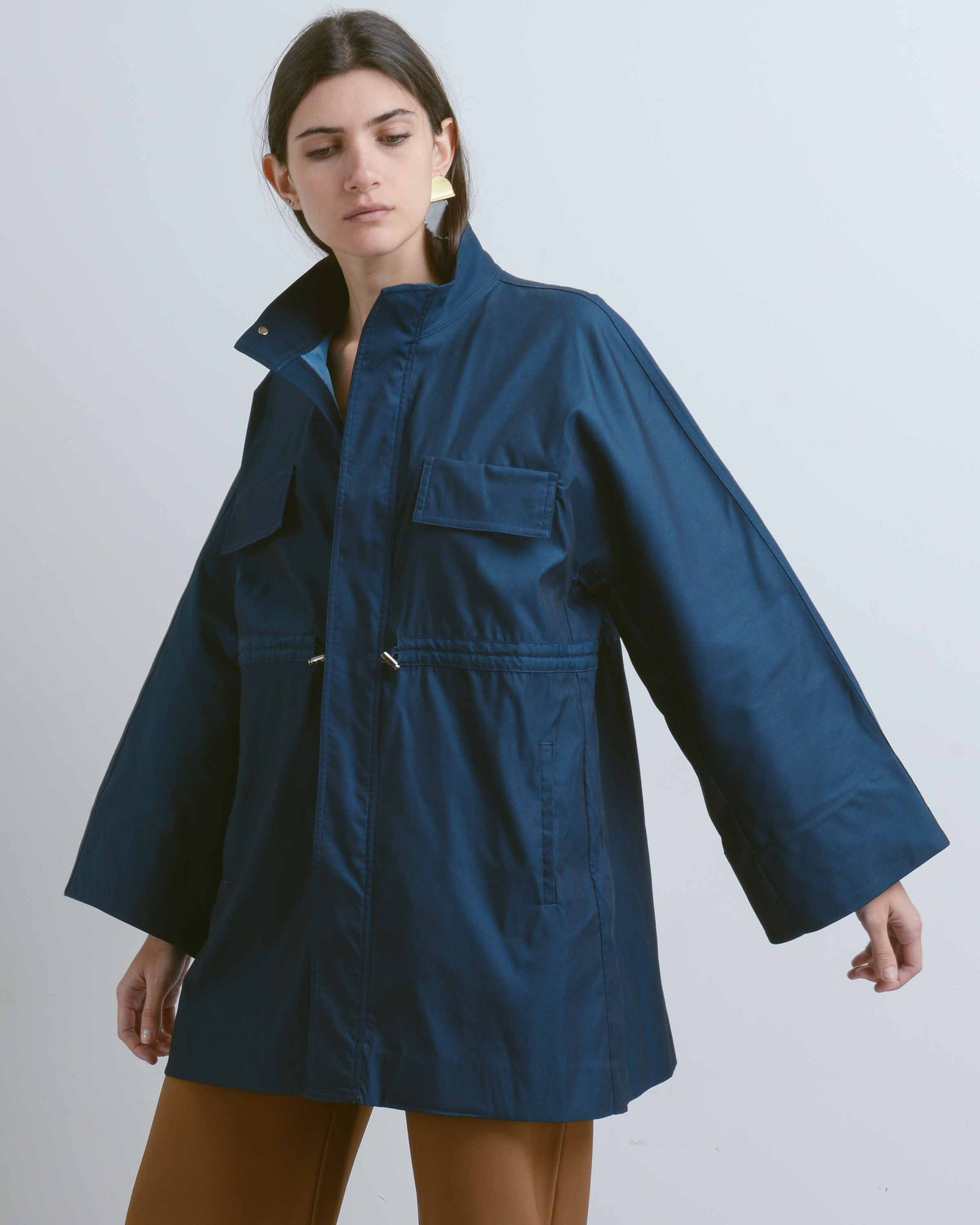 Dark Blue Light Parka
