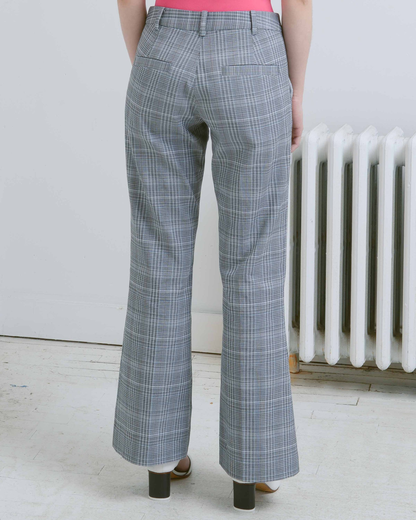 Grey Checked Esther Tailored Pant