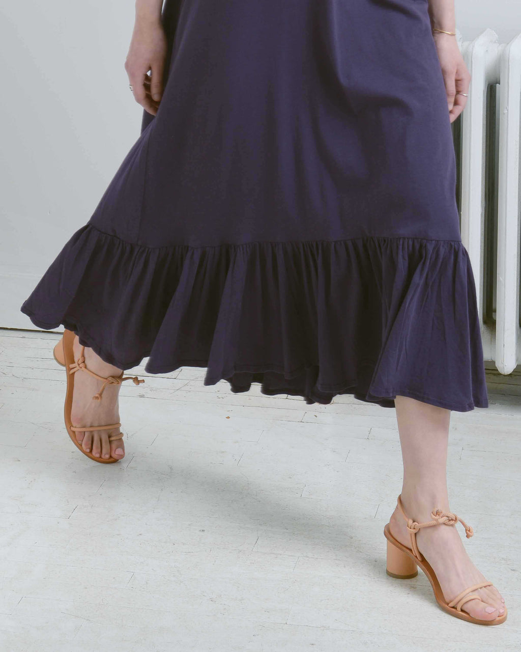 Plum Gather Hem Dress