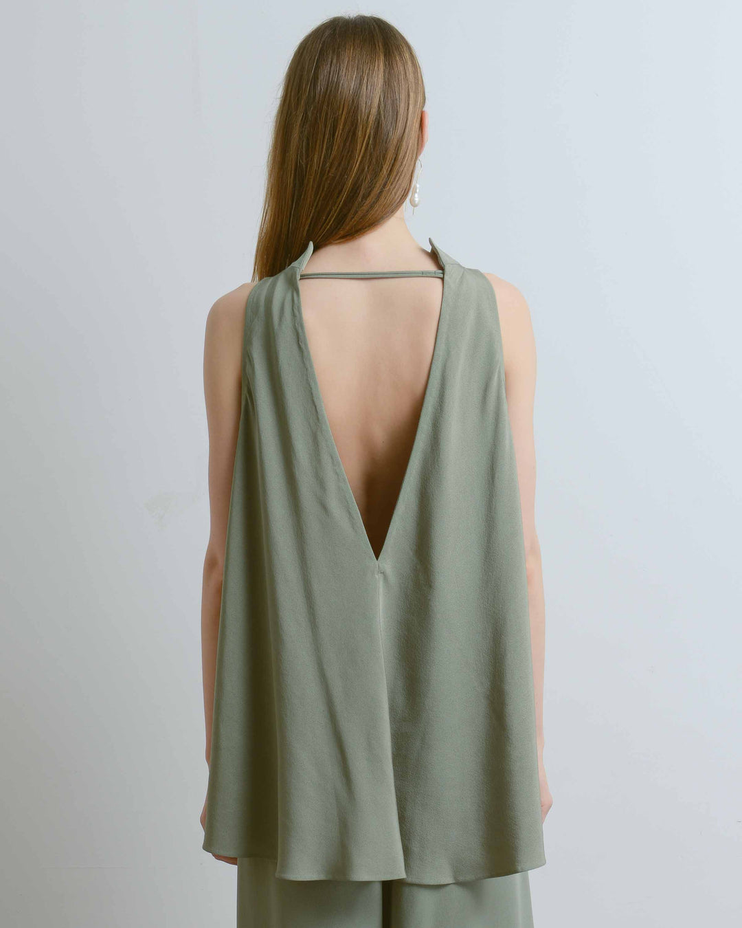 Tao Low V-Back Silk Tank Top