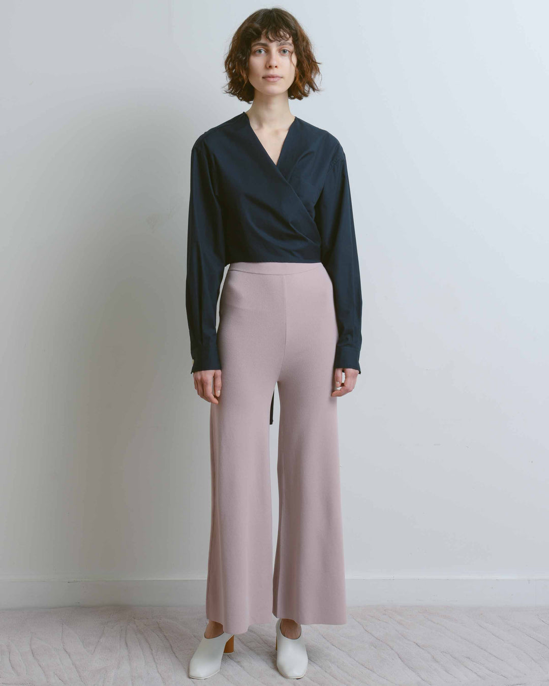 Pink Cyan Wide Leg Trousers