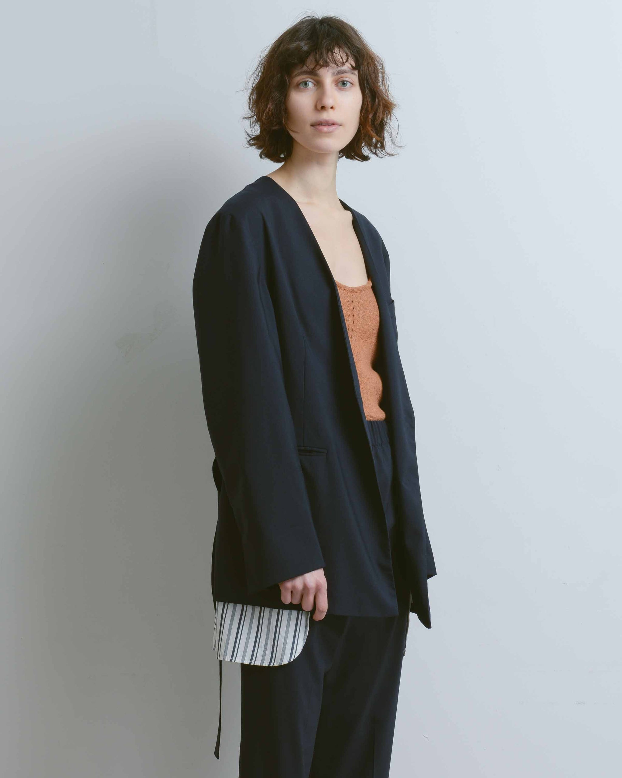 Gemma Wool Suiting Oversized Jacket