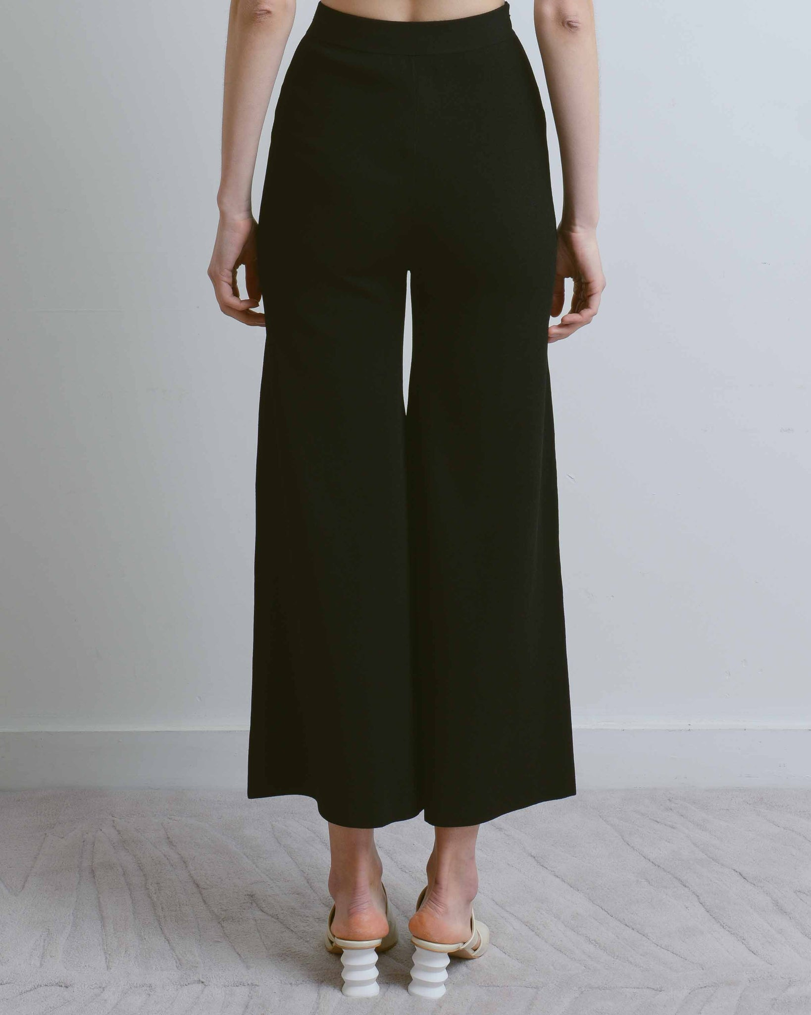 Black Cyan Wide Leg Trousers