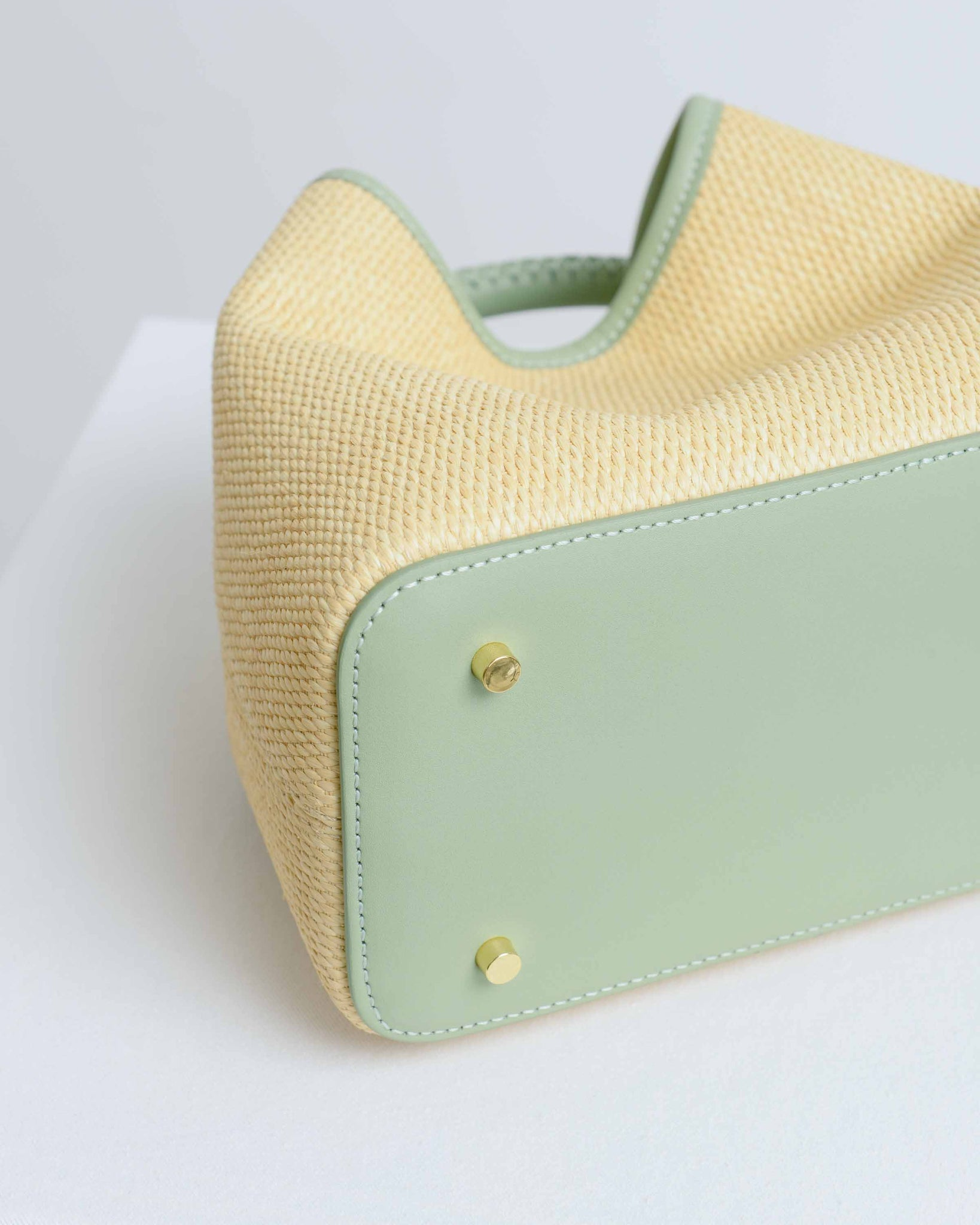 Beige & Mint Baozi Bag