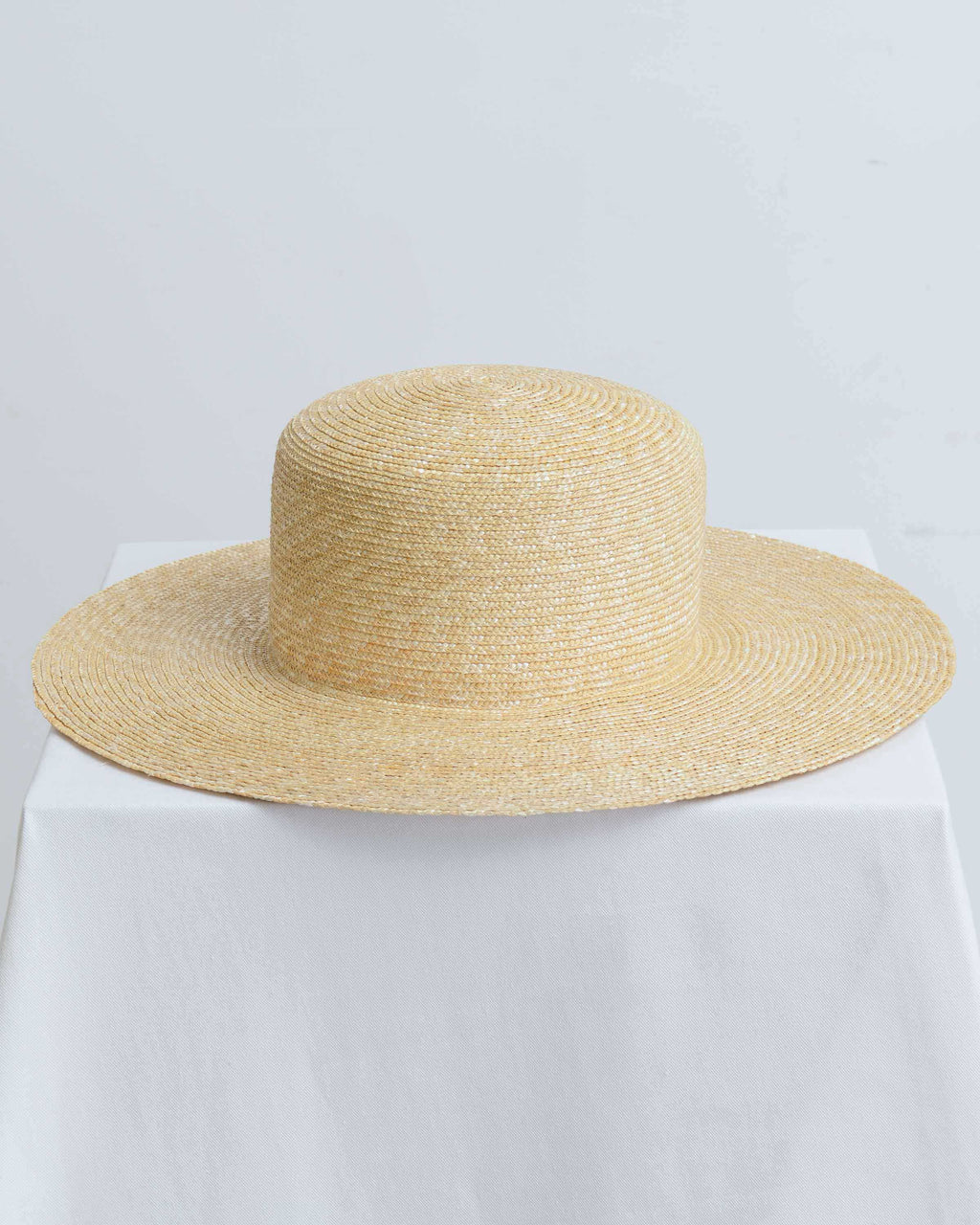 Natural Medium Brim Flat Top Hat