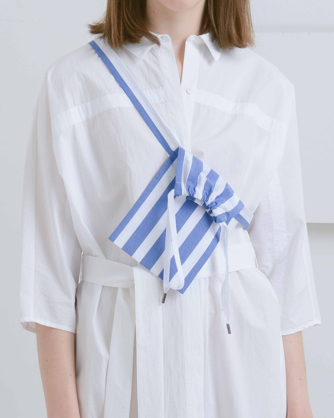 Blue Striped Dust Bag Belt