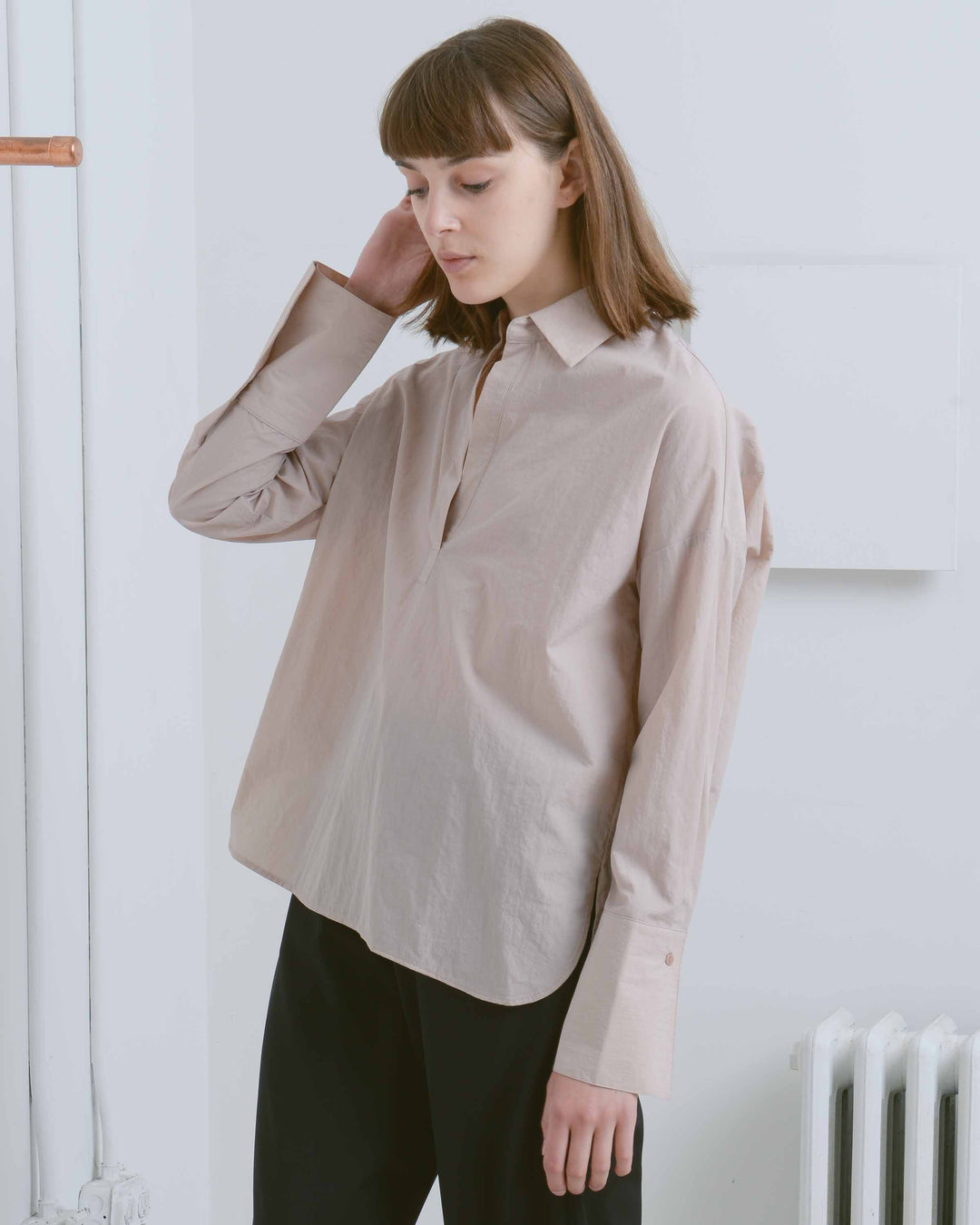 Tan Open Collared Shirt