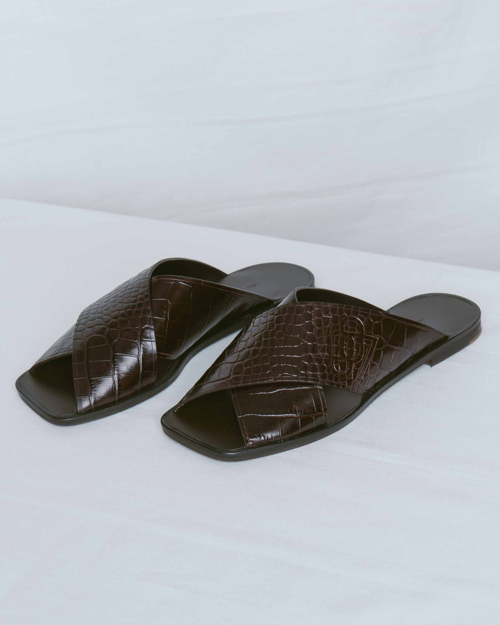 Dark Brown Cross Band Sandal
