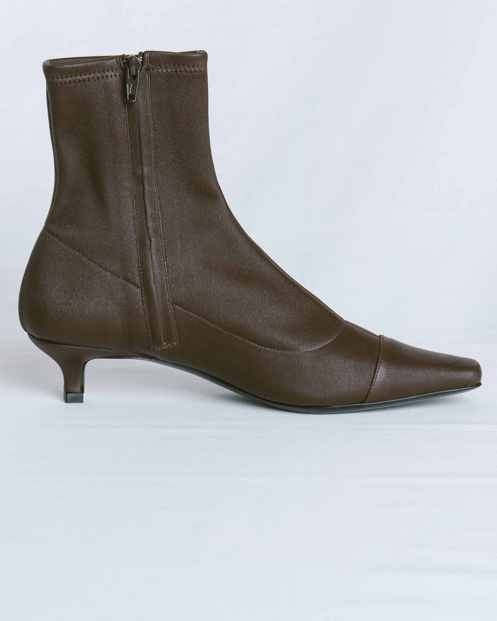 Brown Stretch Leather Karl Boot