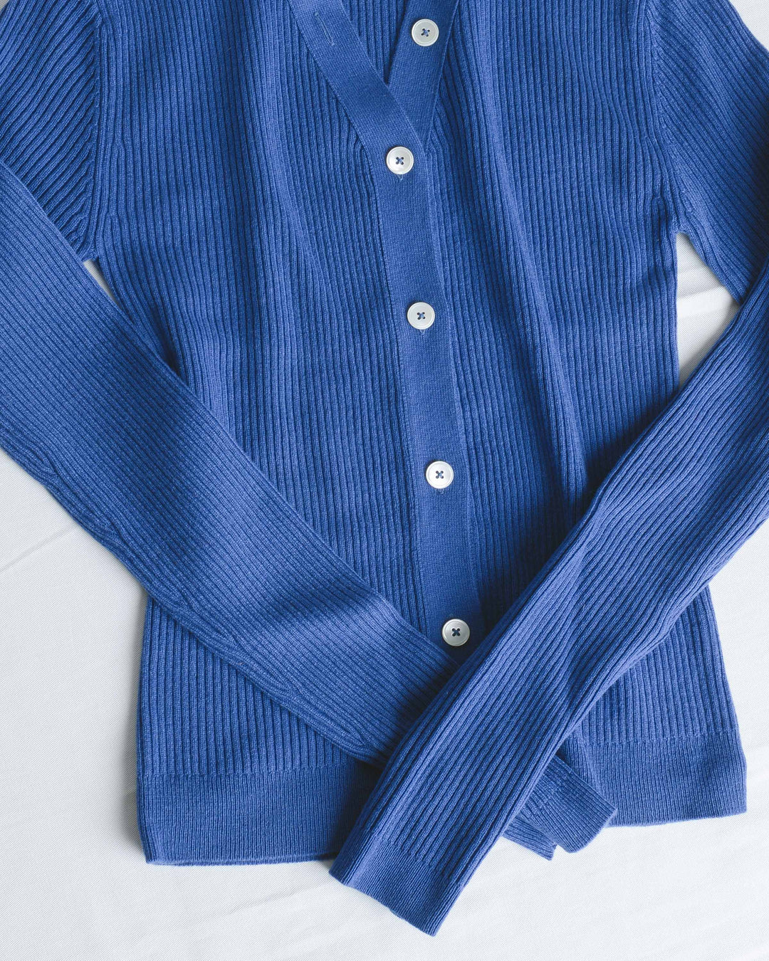 Serge Blue Veronique V-Neck Cardigan