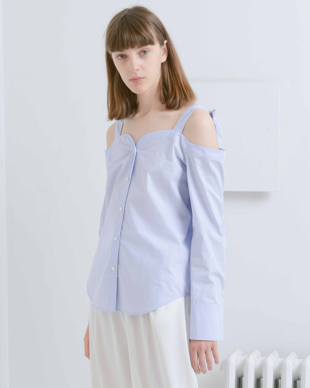 Lavender Margot Shoulder Bow Shirt