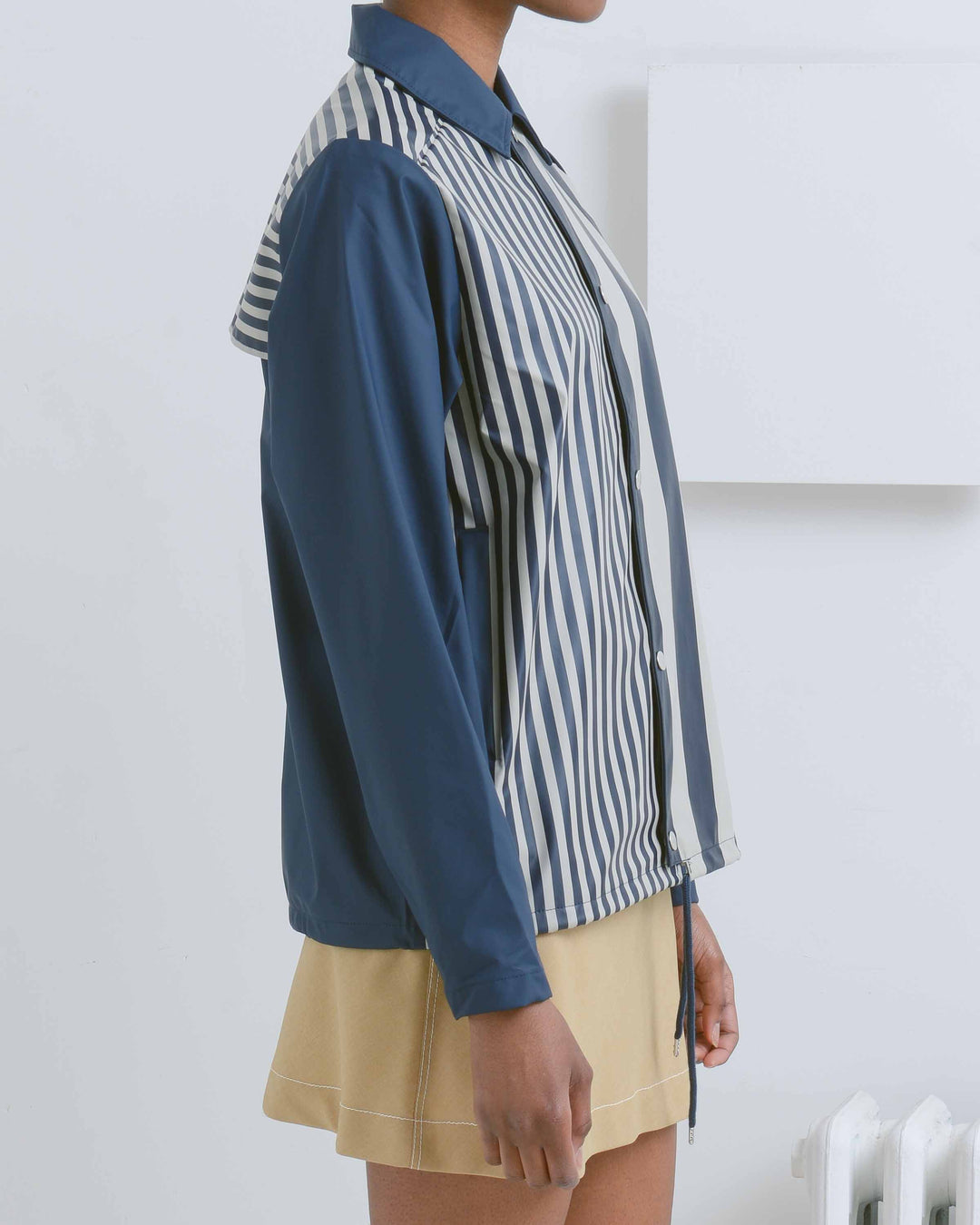 Distorted Stripes Coach Jacket