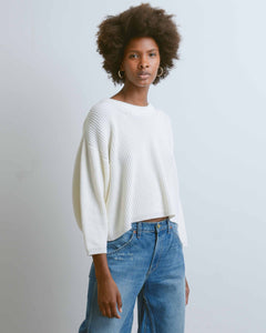 Milk Cropped Crew Neck