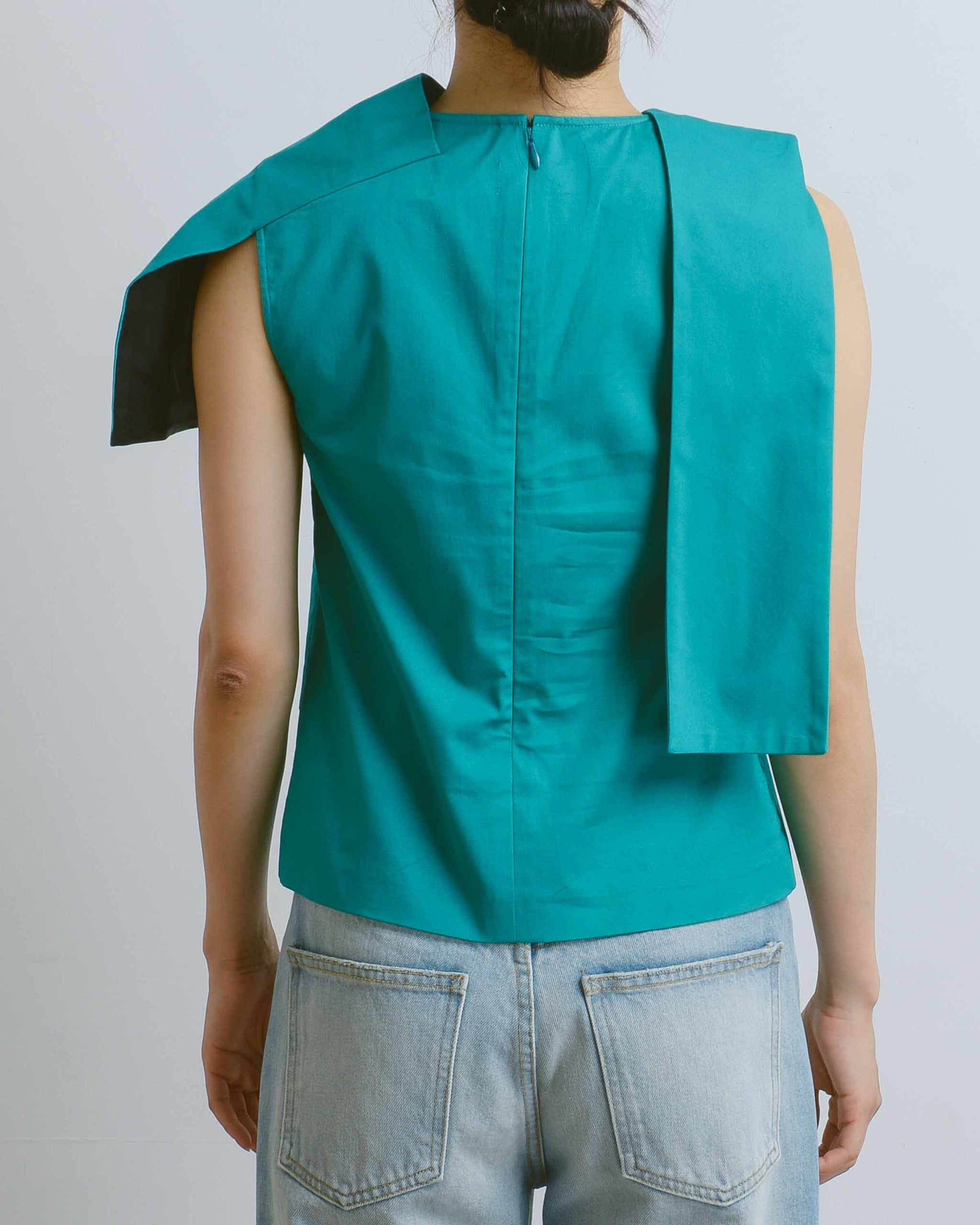Turquoise Wonky Top