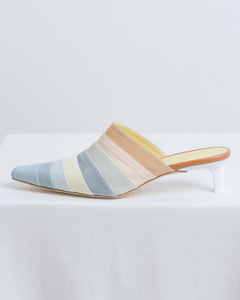 Blue Multi Angela Mule