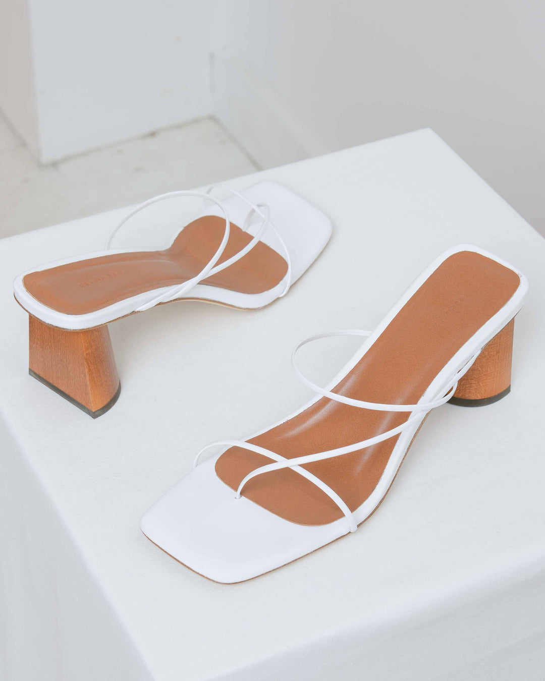 White Leather Harley Sandals