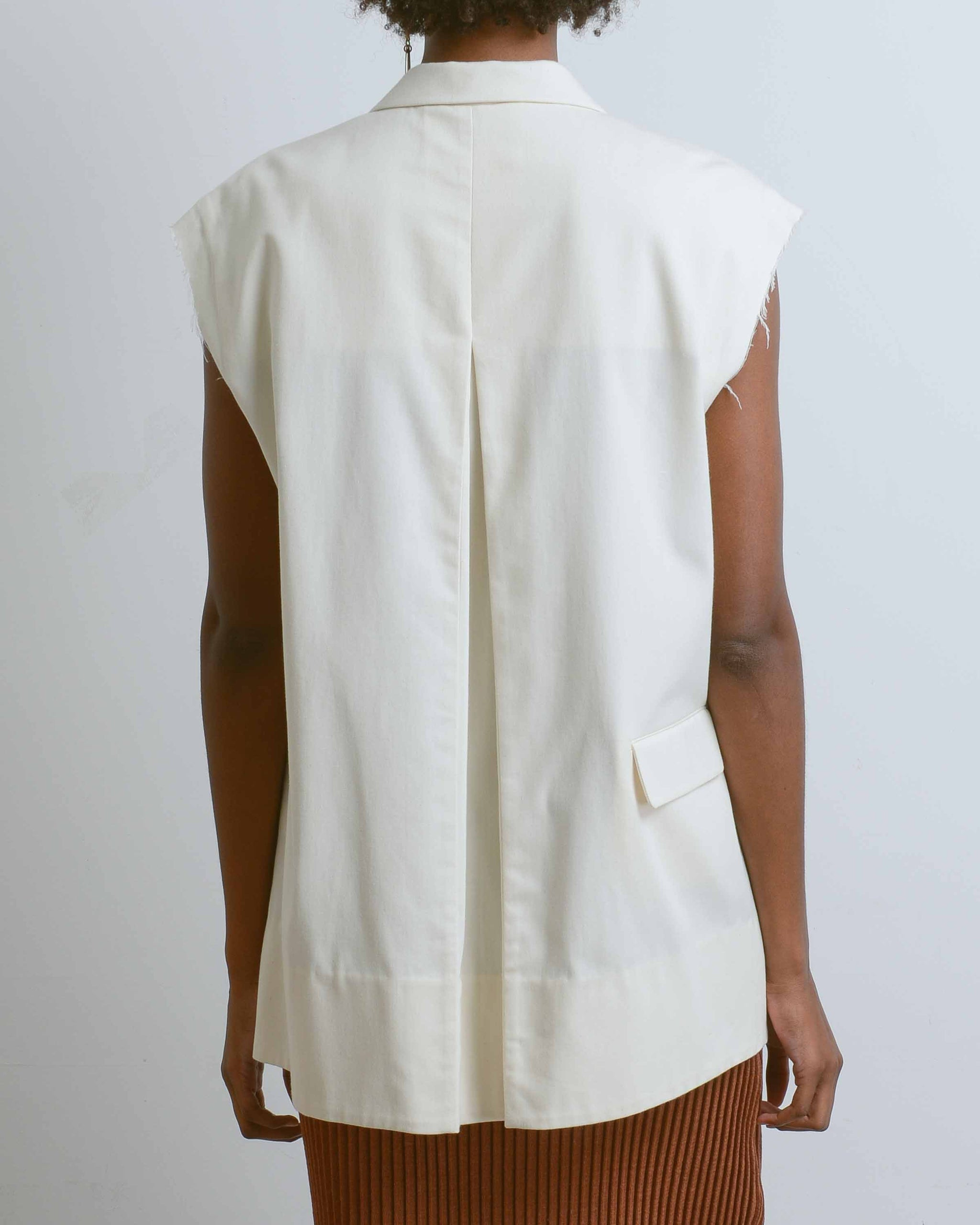 Asymmetrical Raw Seam Vest