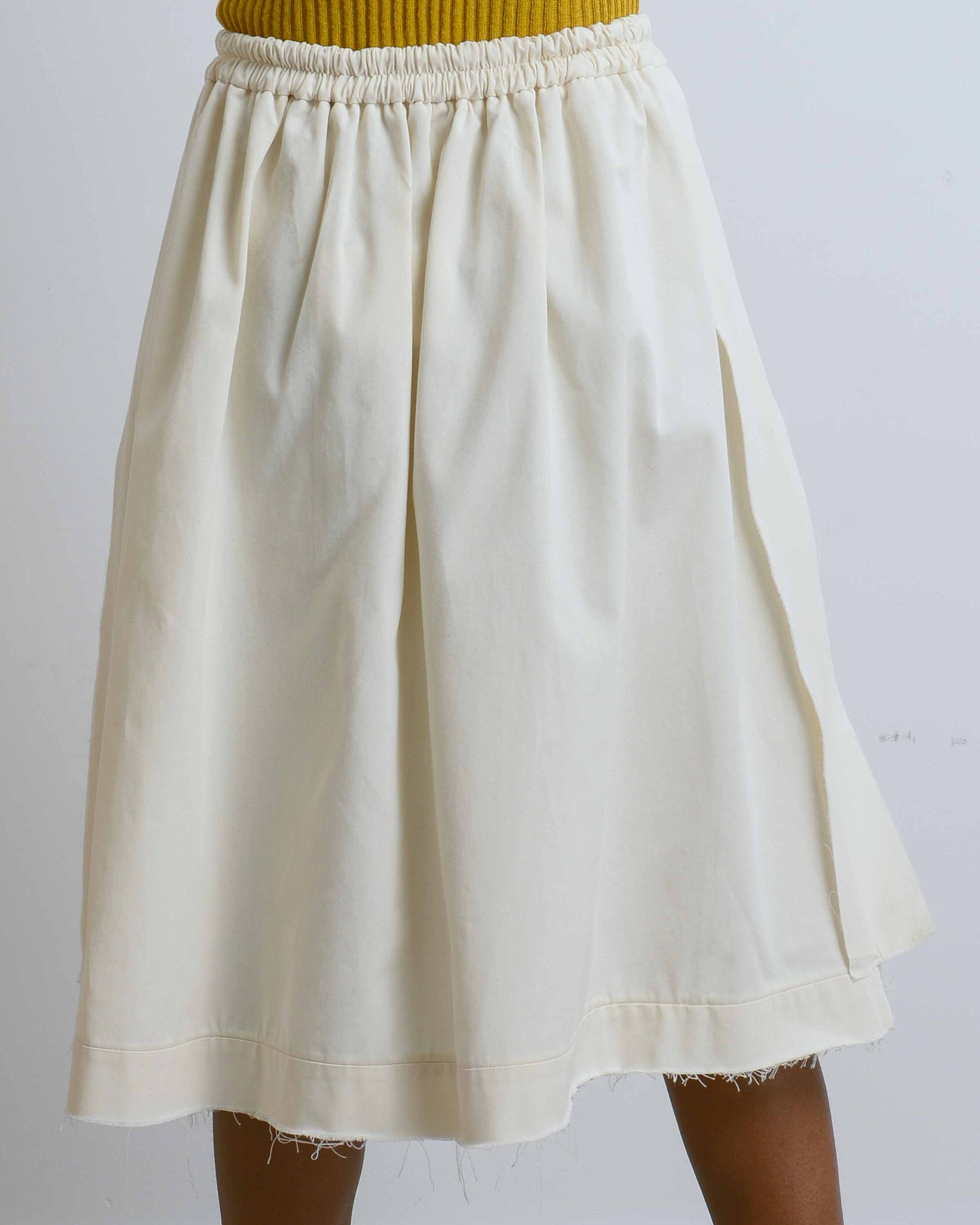 Pull On Raw Seam Skirt