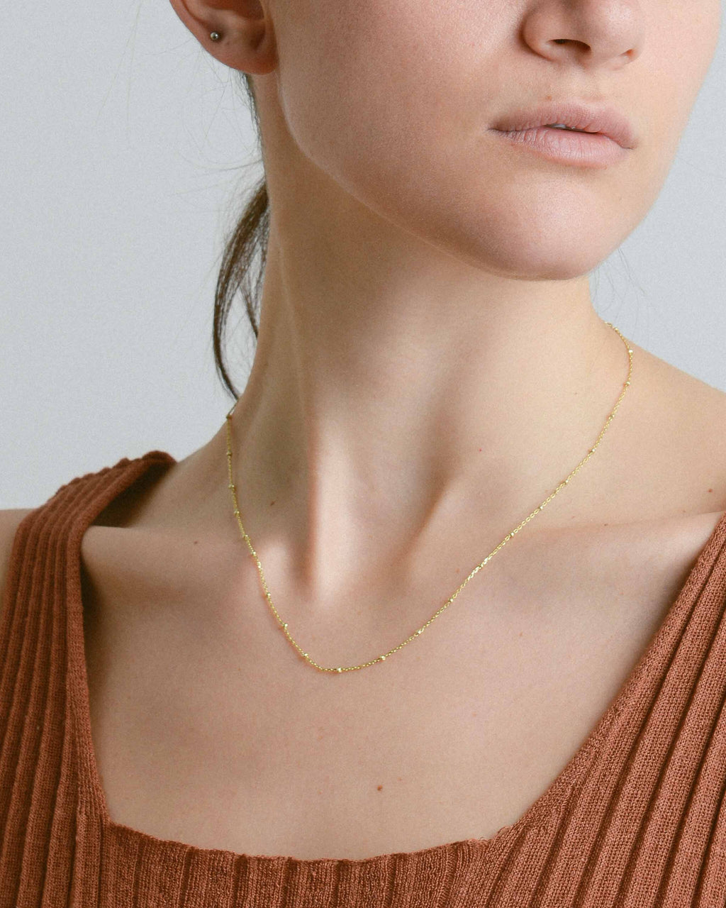 Gold Micro Beads Necklace
