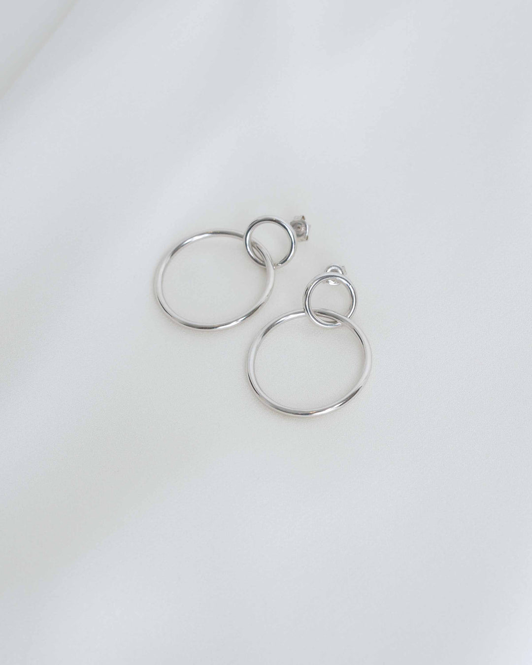 Sterling Silver Interlocking Earrings