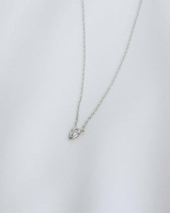 Sterling Silver Dainty Diamond Pendant