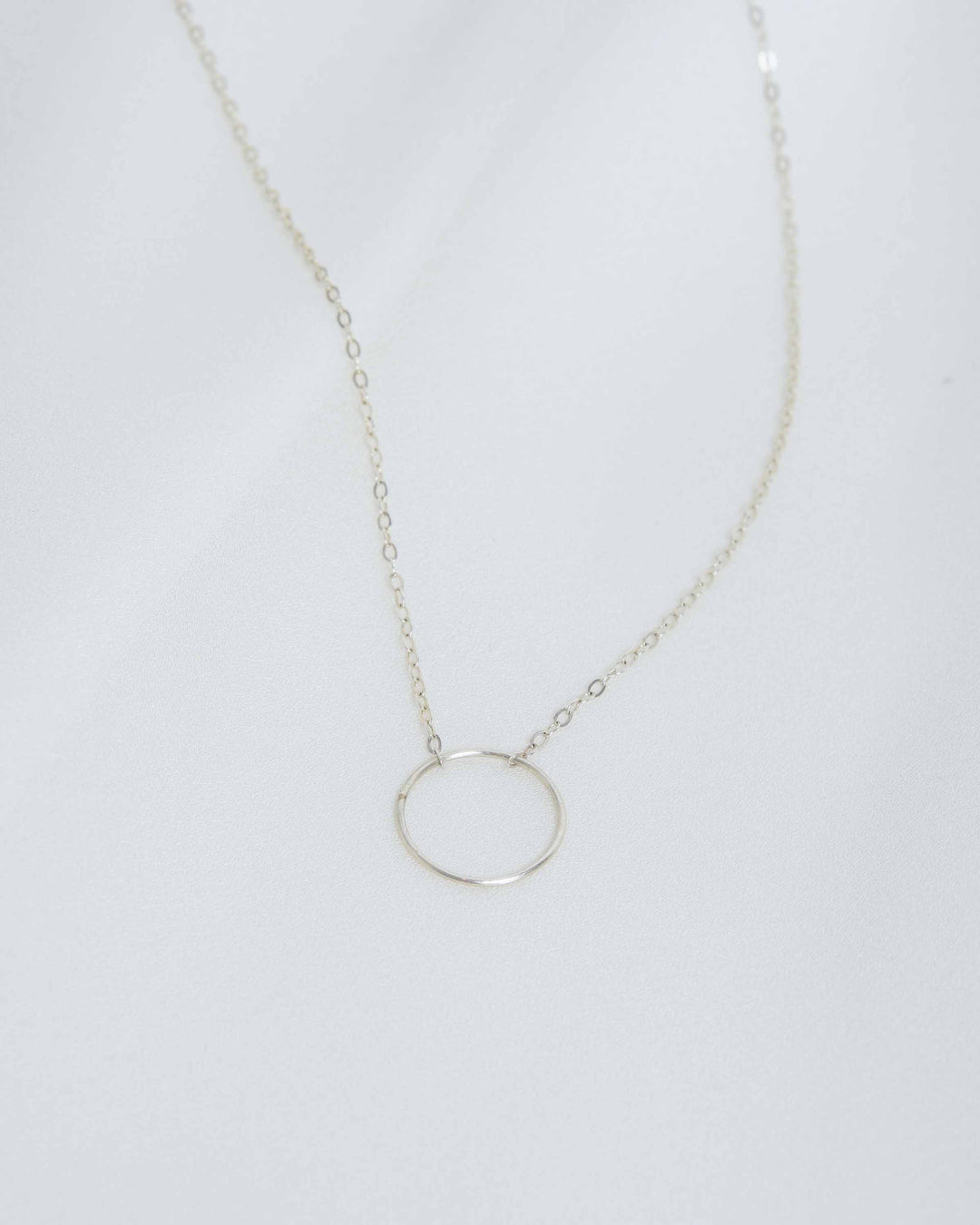 Sterling Silver Halo Necklace